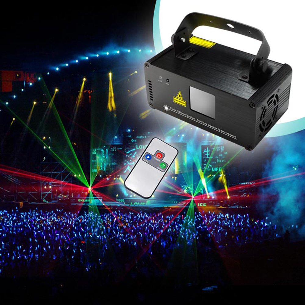 Sumger Professional DMX512 LED Stage Light RGY Laser Scanner DJ Disco Beam Stage Lighting Effect Laser Projector illumination Show Light Sound Activated with Remote for Festival Bar Club Party Wedding by Sumger