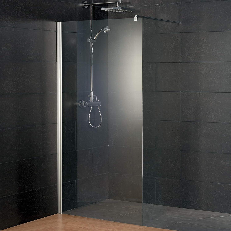 Schulte D5983xx 41 50 Alexa Style - Mampara de ducha (190 cm de alto, diferentes anchos, aspecto cromado, cristal de seguridad de 6 mm, claro), D598308 41 50: Amazon.es: Bricolaje y herramientas
