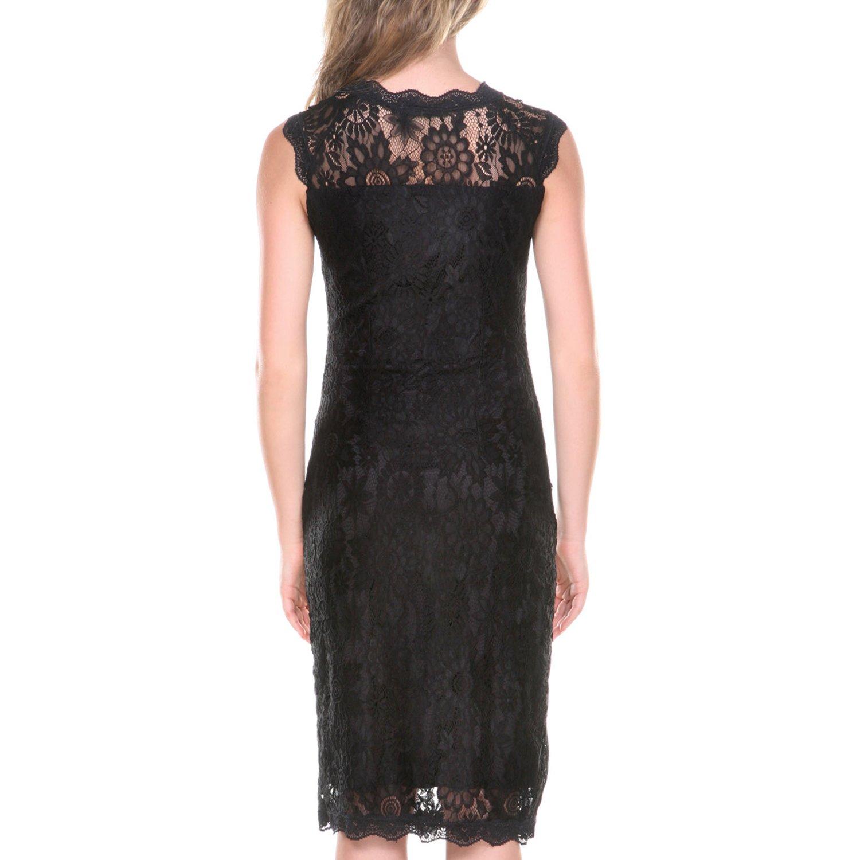 Stanzino Lace Dresses for Women - Womens Sleeveless Cocktail Dress ...