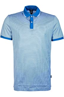 06a4c5a1 BOSS Hugo Men Short Sleeve Polo Shirt PHILLIPSON 32 50387546 Size L Blue
