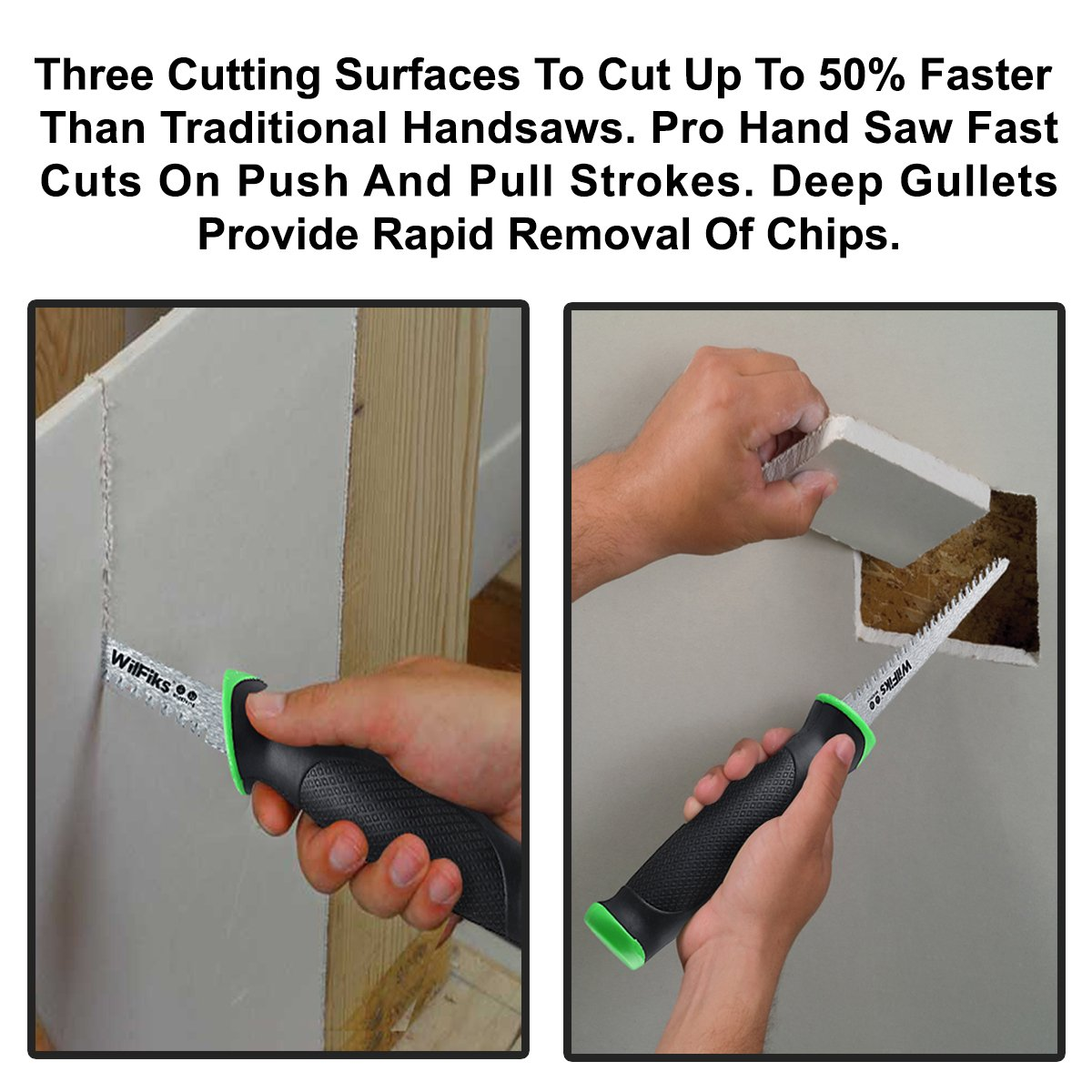 """WilFiks Razor Sharp 6.5"""" Pro Jab Saw, Drywall Hand Saw, Perfect For Sawing, Trimming, Gardening, Pruning & Cutting Wood, Wallboards & More, Comfortable Ergonomic Non-Slip Handle, Has A Sharpened Tip by WilFiks (Image #6)"""