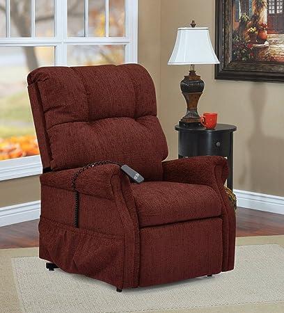 a822757619e56 Amazon.com: Med Lift Dawson Two-Way Reclining Lift Chair - Maroon ...