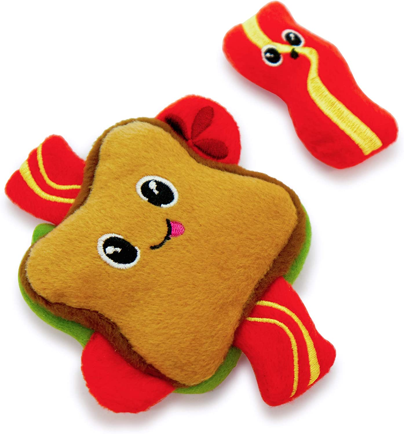Pet Craft Supply Silly Snacks and Funny Food Crinkle Cuddling Catnip and Silvervine Toys