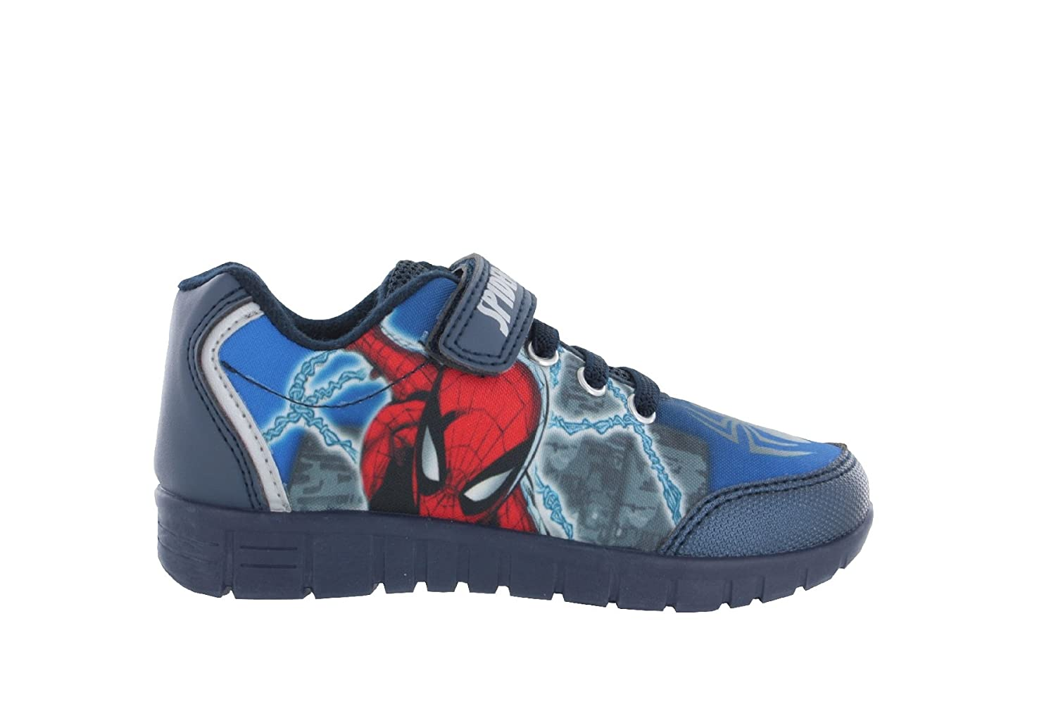 Spiderman Boys Blue Trainers Sports Shoes Hook and Loop UK Child Various Sizes