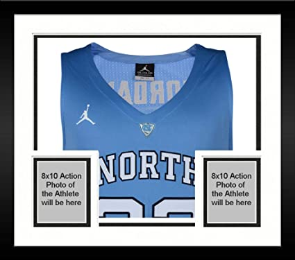 Image Unavailable. Image not available for. Color  Framed Michael Jordan  North Carolina Tar Heels Autographed Blue Authentic Jersey ... e261dfd90