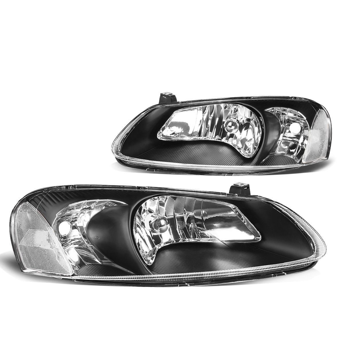 For 00-01 Nissan Maxima DNA Motoring HL-OH-075-SM-AM Pair Smoked Housing Headlight
