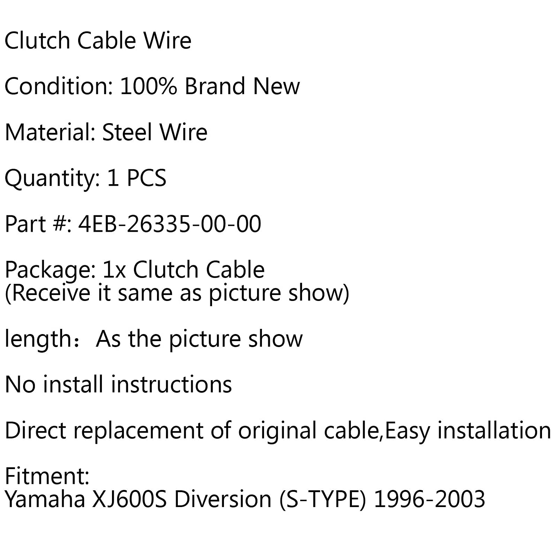 1996-2003 S-TYPE Cable de embrague de repuesto para XJ600S Diversion Areyourshop