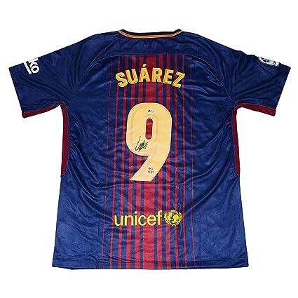 8fbc47e0f AUTOGRAPHED Luis Suarez  9 Barcelona Team (Rakuten Unicef) Rare Nike  Official Futbol