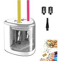 TOPERSUN Sacapuntas Eléctrico Afilador Lapices Electrico Agujeros Dobles para 6-12mm Sacapunta Lápiz de Color para…