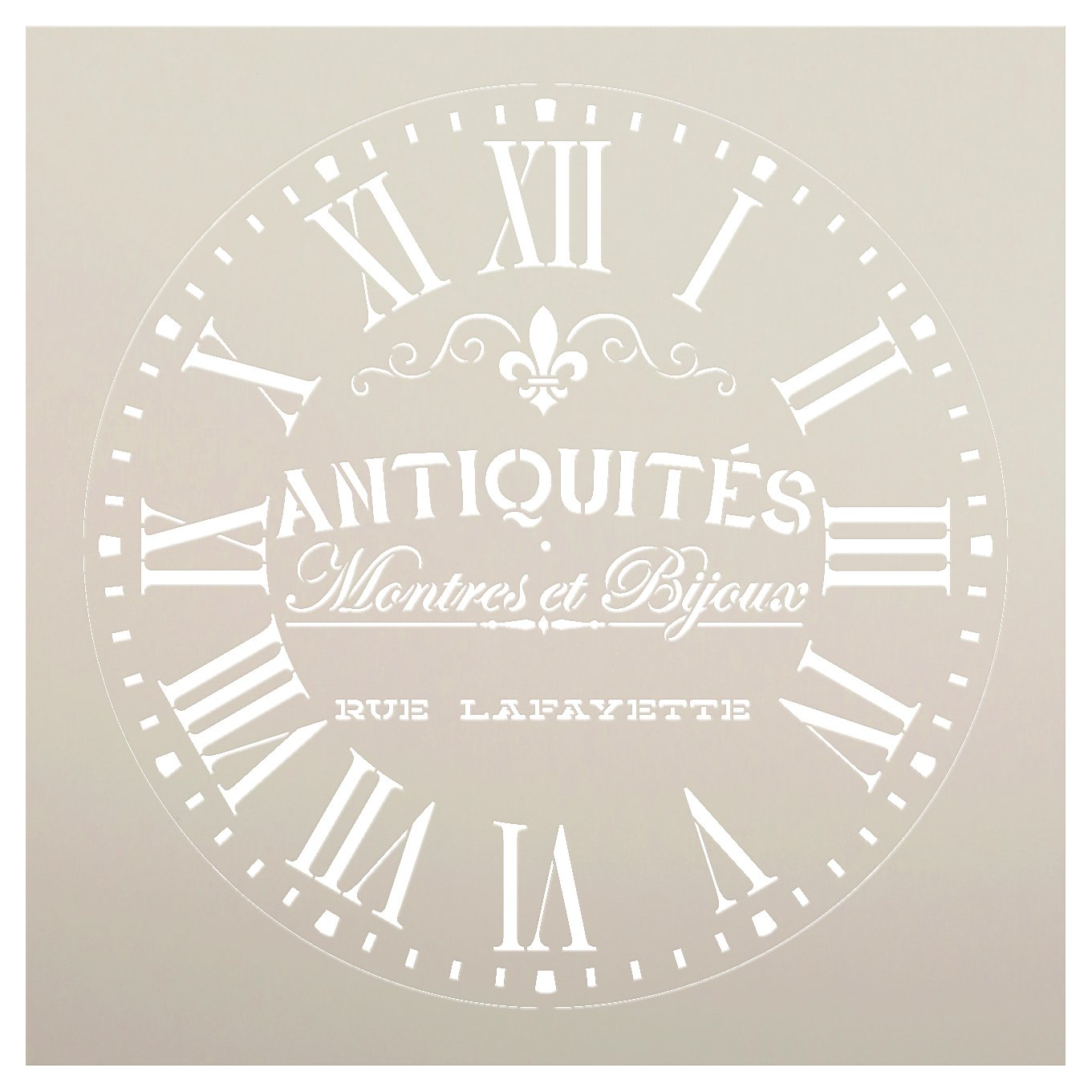 Amazon.com: Reloj redondo plantilla – números romanos ...