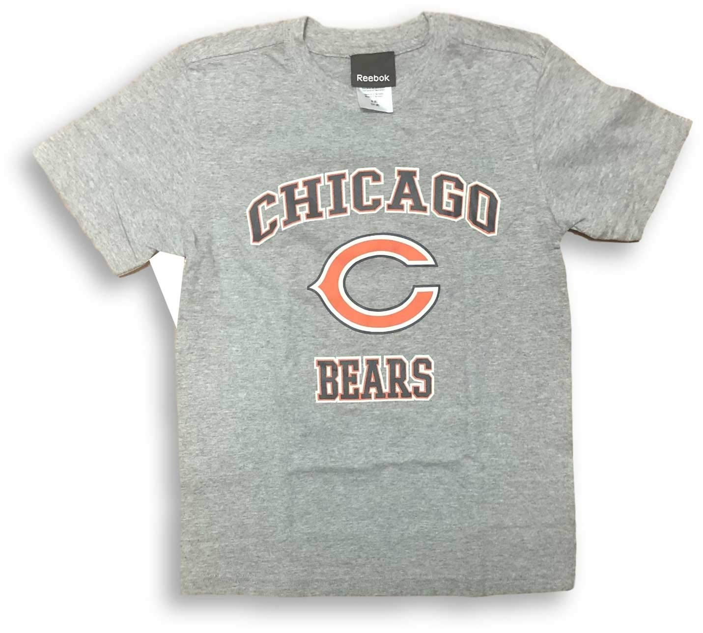NFL Team Apparel Chicago Bears Name Logo Athletic Gray Youth T-Shirt