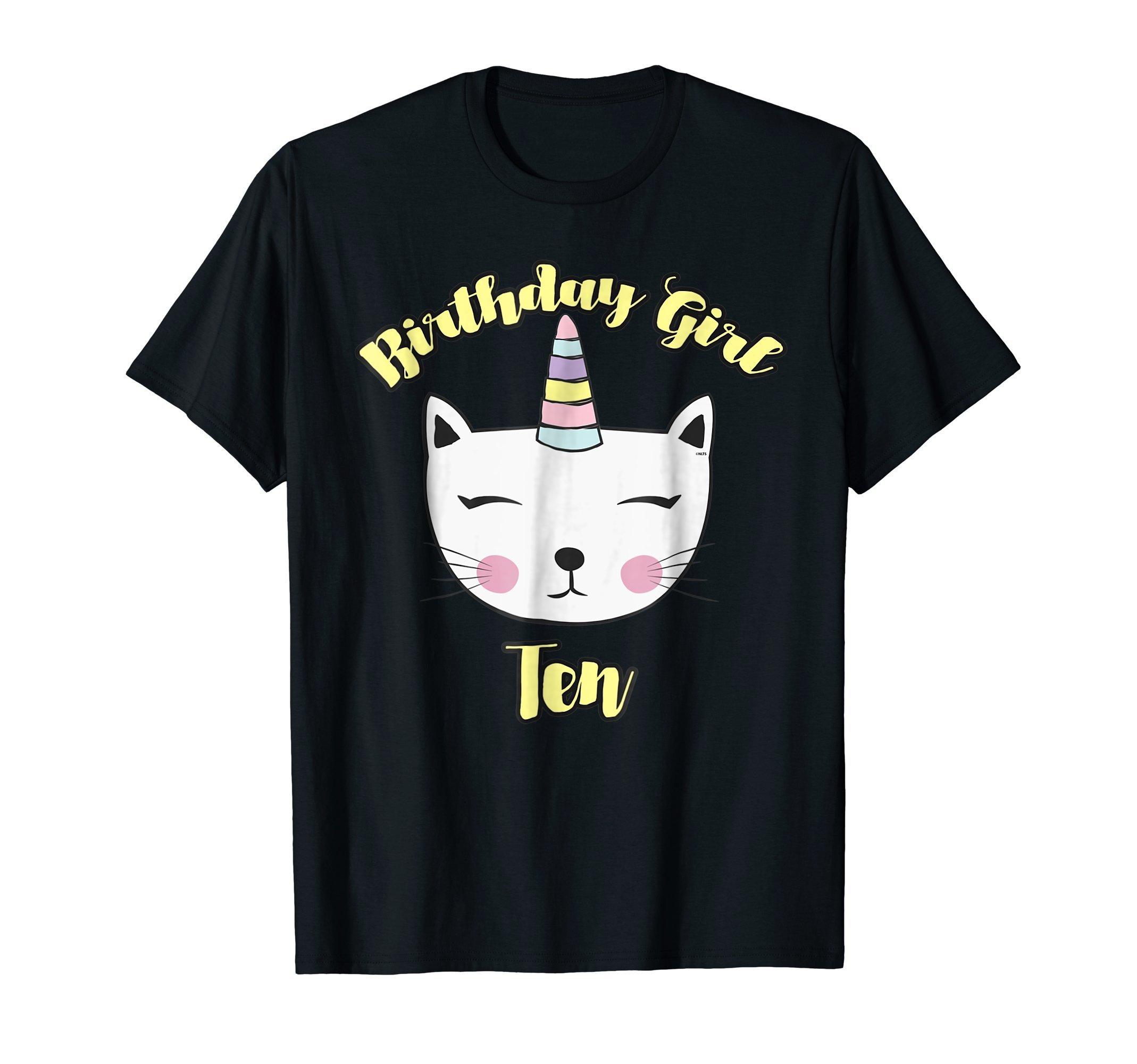 Caticorn-Birthday-Girl-for-10th-Birthday-T-Shirts-Shirts-Tee