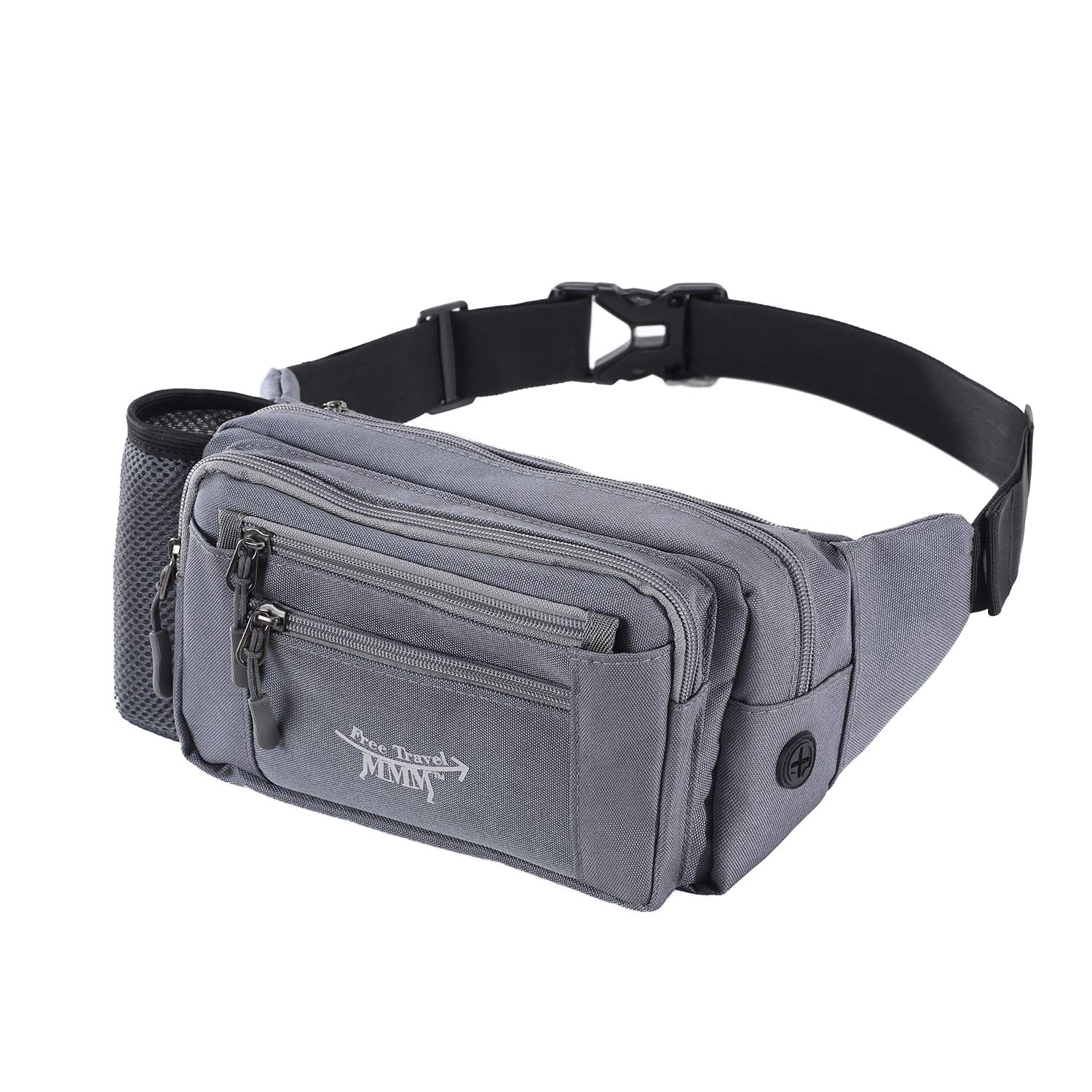 5cb612b96111 FTMMM Fanny Pack Running Waist Pack Bag for Men & Women with 1 Water Bottle  Holder Lumbar Pack Fashion Multi-Function with Headphone Jack for Outdoors  ...