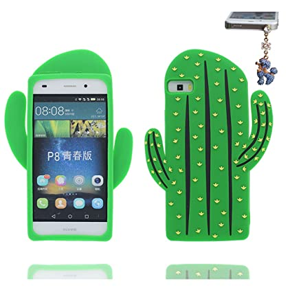 Huawei P8 Lite Carcasa, [TPU flexible ] 3D Cartoon cactus ...