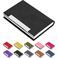 Business Card Holder, Business Card Case Luxury PU Leather & Stainless Steel Multi Card Case,Business Card Holder Wallet…