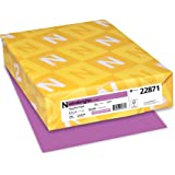 "Astrobrights Colored Cardstock, 8.5"" x 11"", 65 lb/176 gsm, Planetary Purple, 250 Sheets (22871)"