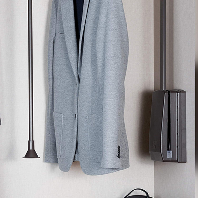Seitliche montagezus/ätze f/ür ausklappbare Kleiderstange moka Farbe Emuca