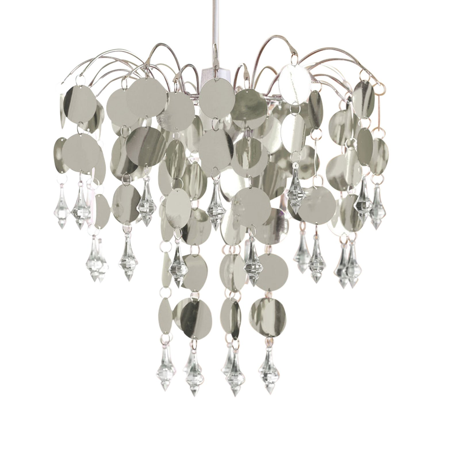 Urban life easy fit chandelier in chic silver prime aloadofball Choice Image
