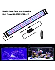 """JOYHILL LED Aquarium Lights with Timer, Dimmable,Super Bright LEDs Fish Tank Light for Aquatic Reef Coral Plants,Full Spectrum for 36""""-48"""" Tank"""