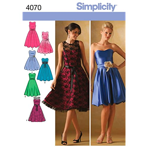 Simplicity Sewing Pattern 4070 H5 Miss/Miss Petite Special Occasion Dresses