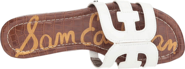 Sam Edelman Women's Bay Slide Sandal B07DKF78TN 9.5 M US|Bright White Patent