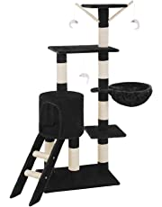 TecTake Arbre à Chat Griffoir Grattoir - diverses couleurs au choix - (Noir)