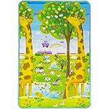 Tapete Girafa Abc Dupla Face Portátil, Ibimboo, Multicolorido, Grande, Baby Pil