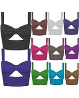 Nouveaux Femmes Découpe Bralet été Mini Vest vêtements de plage Tops 36-42
