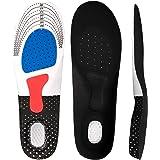 [FULNEW] インソール 衝撃吸収 ゲル 中敷き 土踏まず 靴クッション 足底筋膜炎 3Dデザイン 低反発 防滑 通気 防臭効果 男女兼用