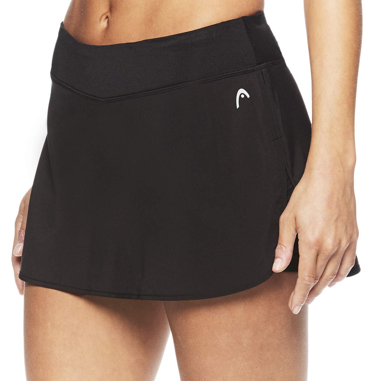 HEAD Women's Athletic Tennis Skort - Performance Training & Running Skirt - Black Spike Skort, X-Small