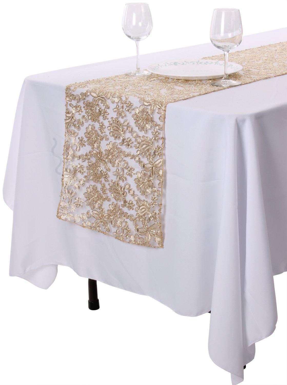 Enimayテーブルランナーウェディング宴会パーティーテーブルデコレーション用14