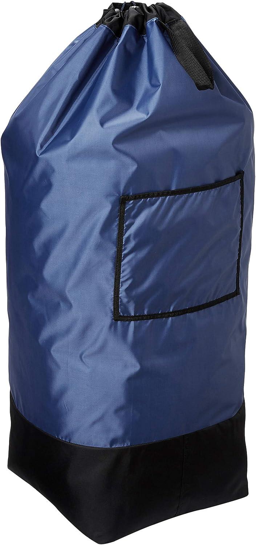 Homz Large Heavy Duty Laundry Bag, Navy and Black