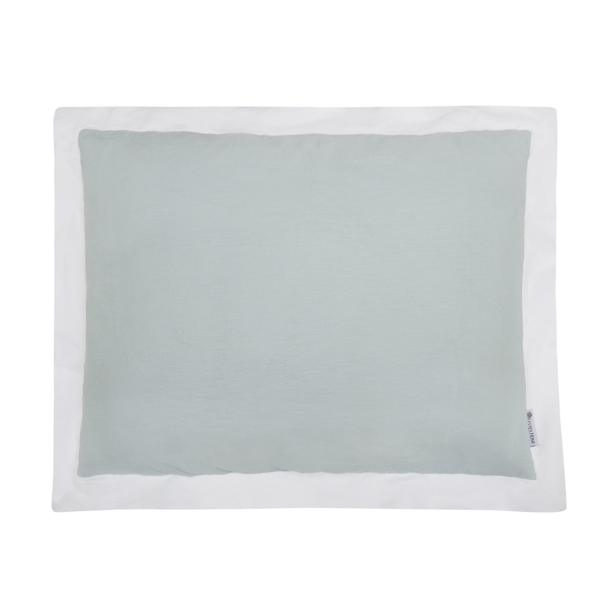Levtex Washed Linen/Cotton Spa W White Flange Standard Sham