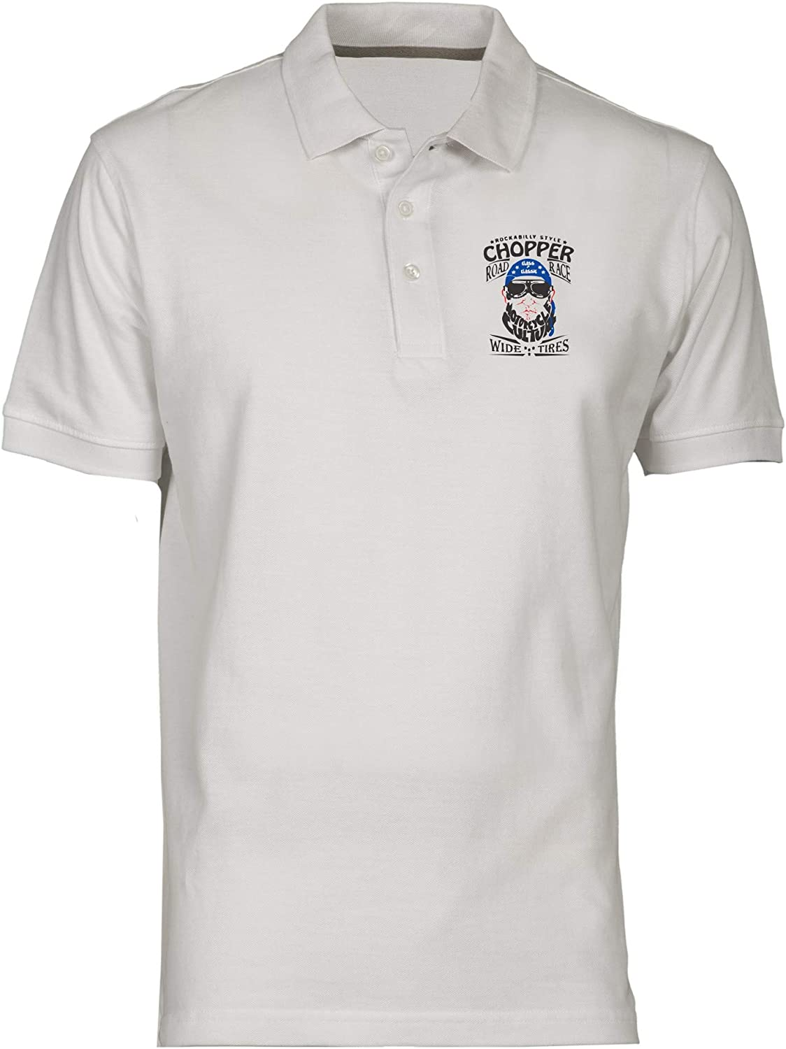 Polo por Hombre Blanco TB0492 Vintage Race Car and Motorcycle Old ...