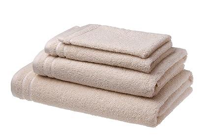 Set di 4 asciugamani da bagno luxe in cotone pettinato 500 g m² 1