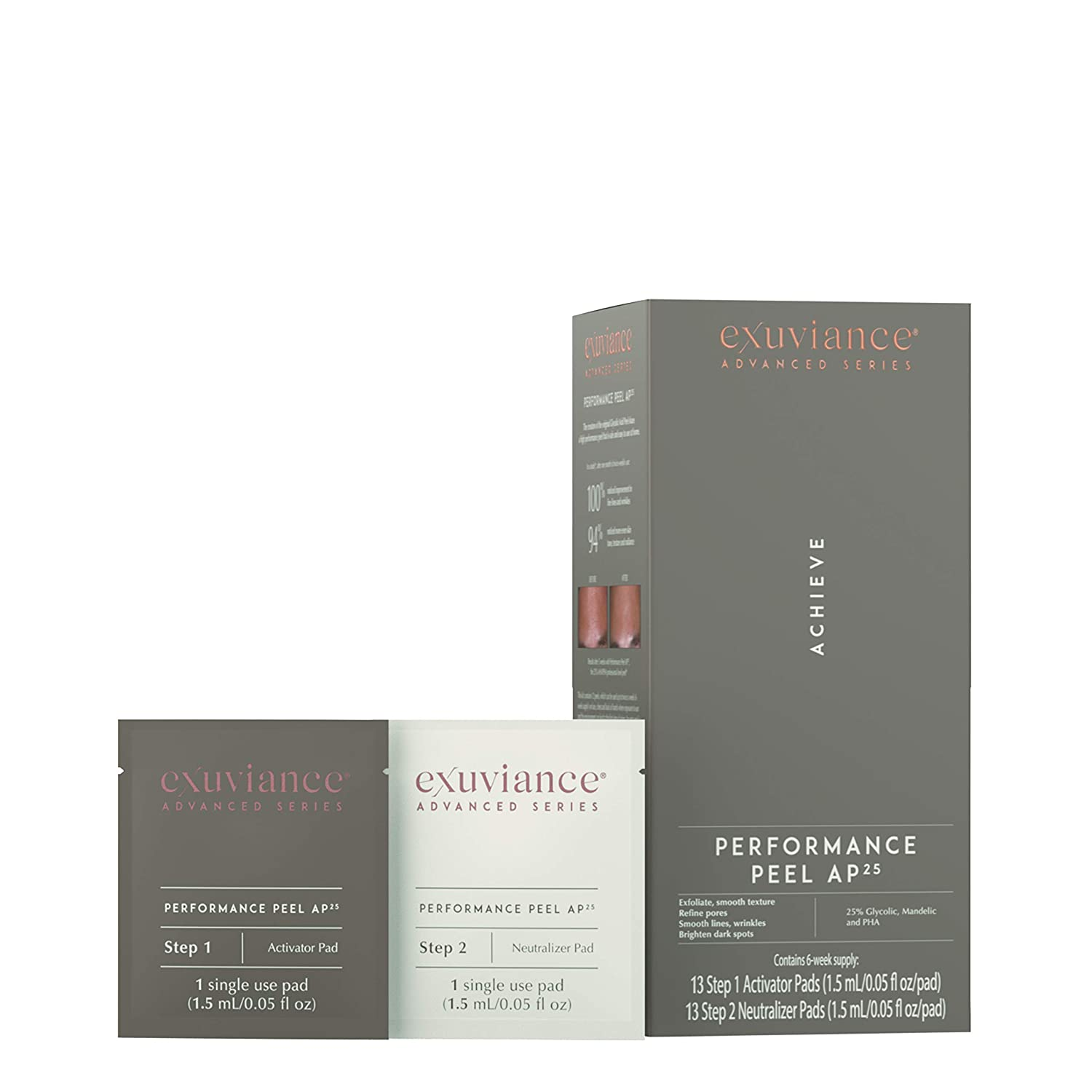 Exuviance Performance Peel AP25 Glycolic Acid At-Home Peel, 6 Week Supply