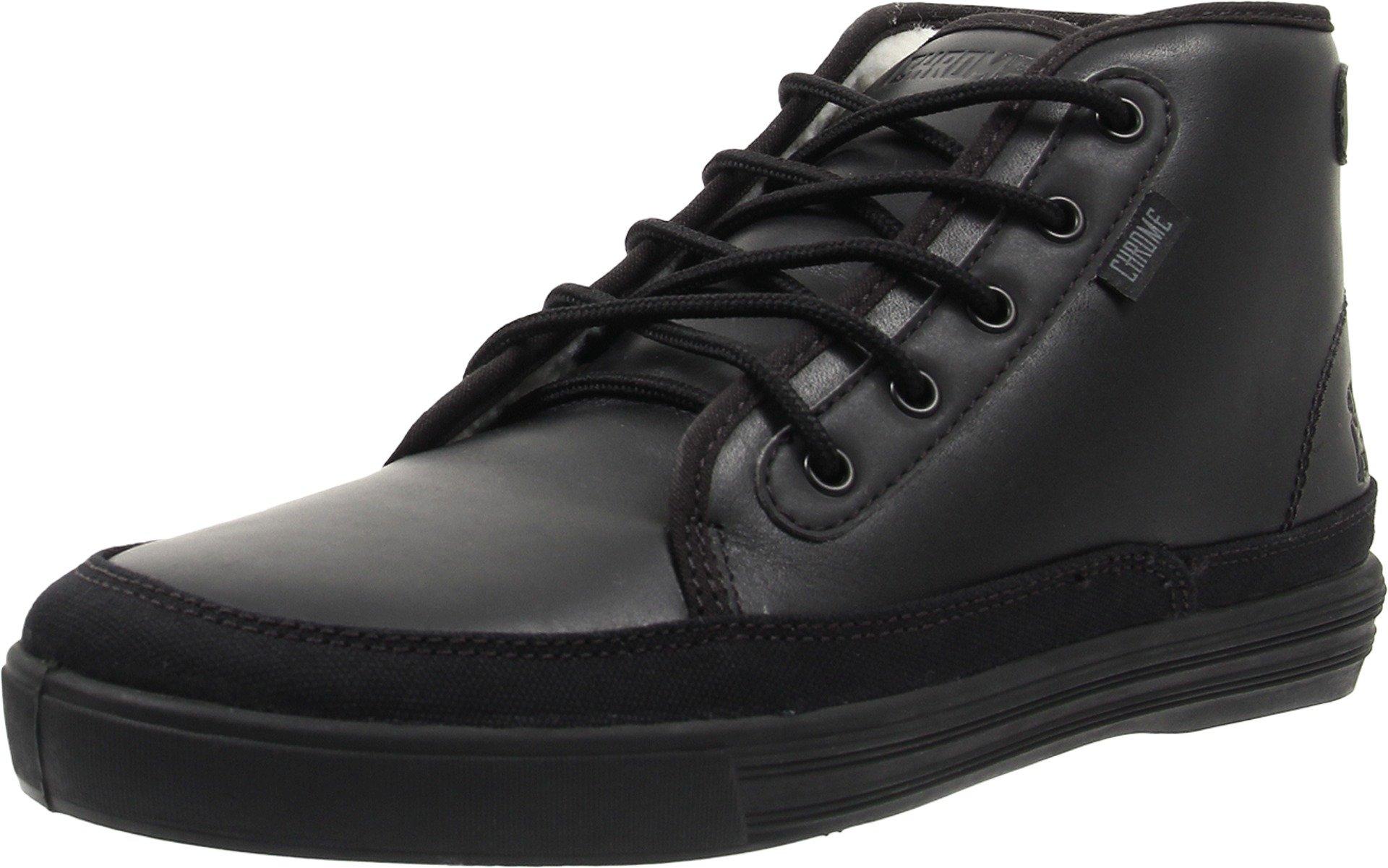 Chrome Unisex Peshka Black Leather 11.5 Women/10 Men M US