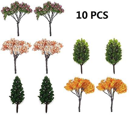 BeautyMood 10Pcs Miniature Fairy Garden Tree Plant Ornamentm, Miniature  Dollhouse Pots Decor Moss Bonsai Micro