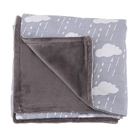 Manta de algodón súper suave para bebés, cómoda para bebés con doble cara Manta de