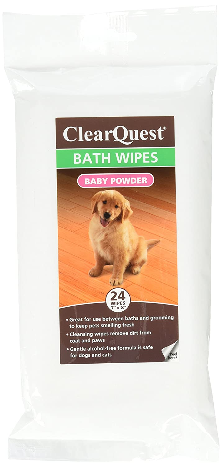 ClearQuest Bath Wipes - Alcohol-Free Wipes for Cleaning and Deodorizing Dogs and Cats Between Baths
