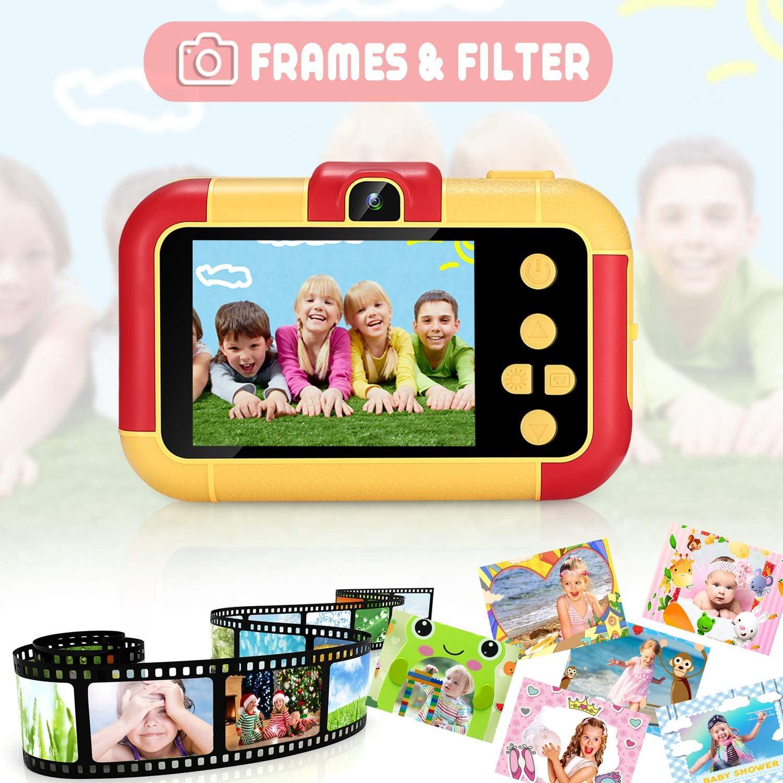 Rouge ASIUR Enfants Appareil Photo Num/érique 1080P HD Vid/éo Jouets Rechargeables Cam/éscopes Enfants pour Filles et Gar/çons 3-8 Ans Anniversaire No/ël Nouvel an Cadeau