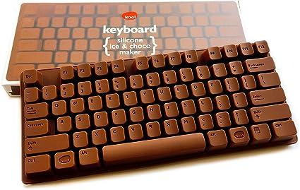 Teclado de chocolate silicona forma – Molde para PC Keyboard de chocolate – También adecuado para divertido cubitos de hielo