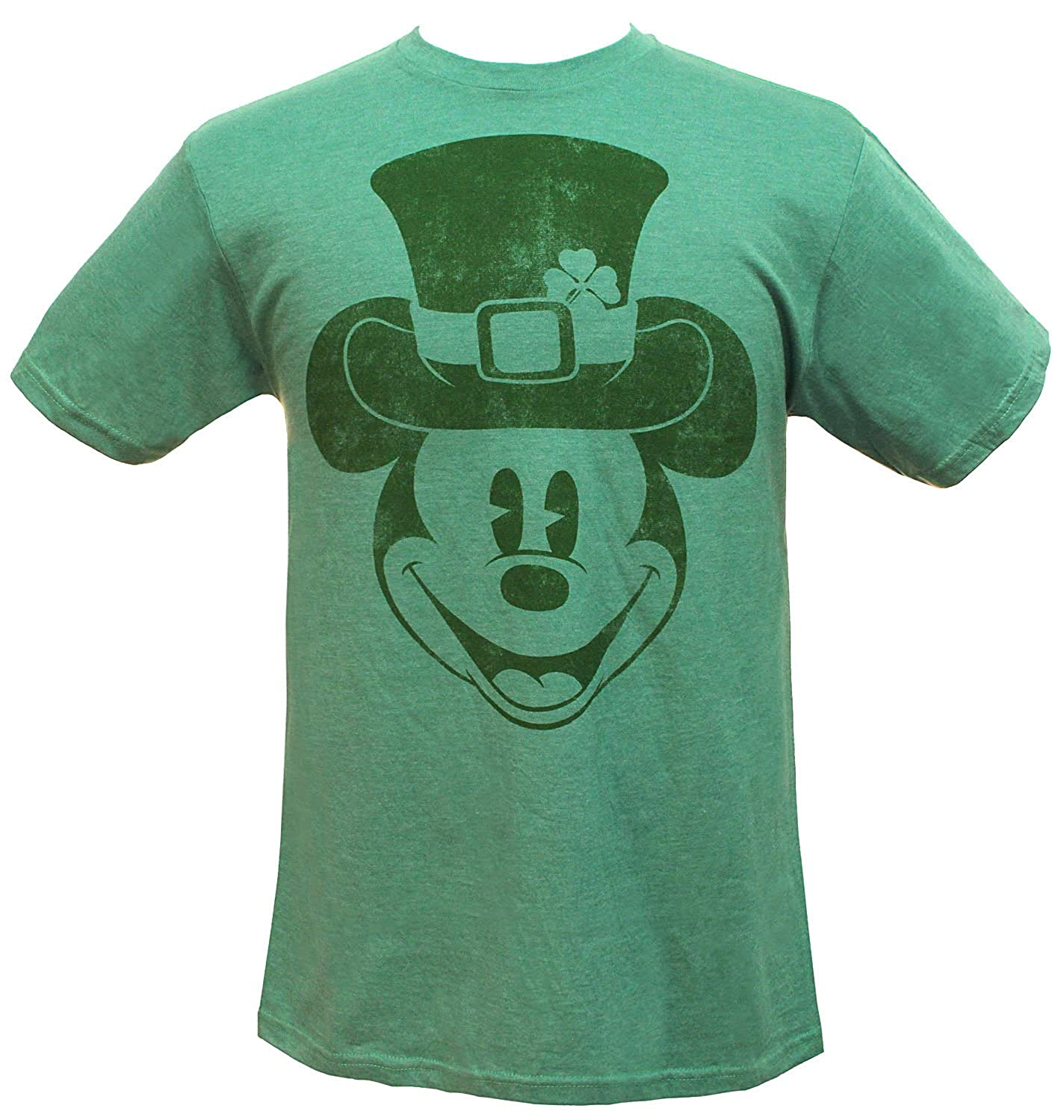 f5a55f463 Amazon.com: Disney Men's Mickey Mouse Leprechaun Hat Distressed Graphic  Shamrock Heather T-Shirt: Clothing