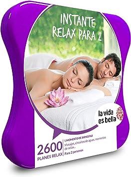 LA VIDA ES BELLA - Caja Regalo mujer hombre pareja idea de regalo - Instante relax para 2 - 2600 planes relax como masajes, rituales de belleza y circuitos de agua: Amazon.es: