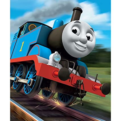Walltastic 8 x 66 ft Thomas the Tank Engine Mural Wall Paper