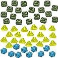 LITKO Gaslands Miniatures Game Token Set, Multi-Colored (50)
