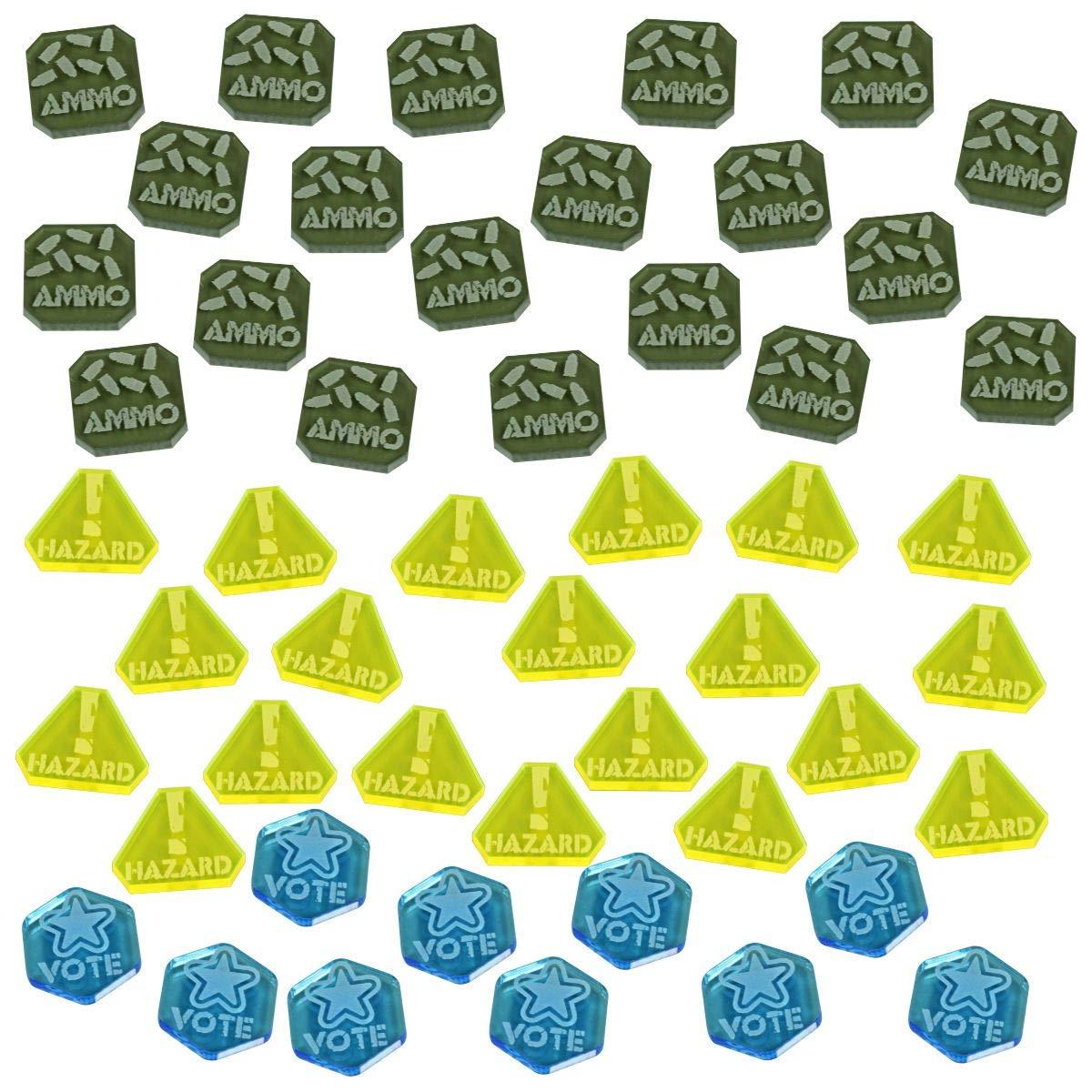 LITKO Gaslands Miniatures Game Token Set, Multi-Colored (50) by LITKO