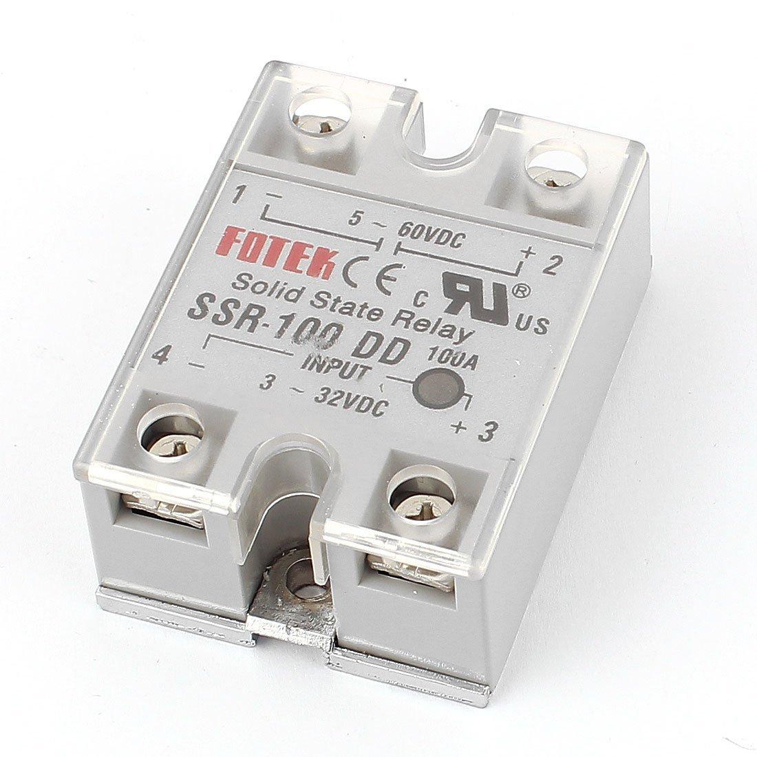 Módulo de relé de estado sólido SSR-100 DD CC-CC 100A 3-32VDC / 5-60VDC DealMux DLM-B019132BZS