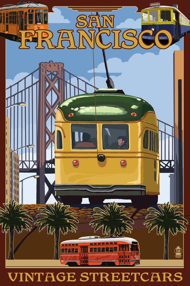 サンフランシスコ、カリフォルニアStreetcars 36 x 54 Giclee Print LANT-32942-36x54 B017E9VZIU 36 x 54 Giclee Print36 x 54 Giclee Print