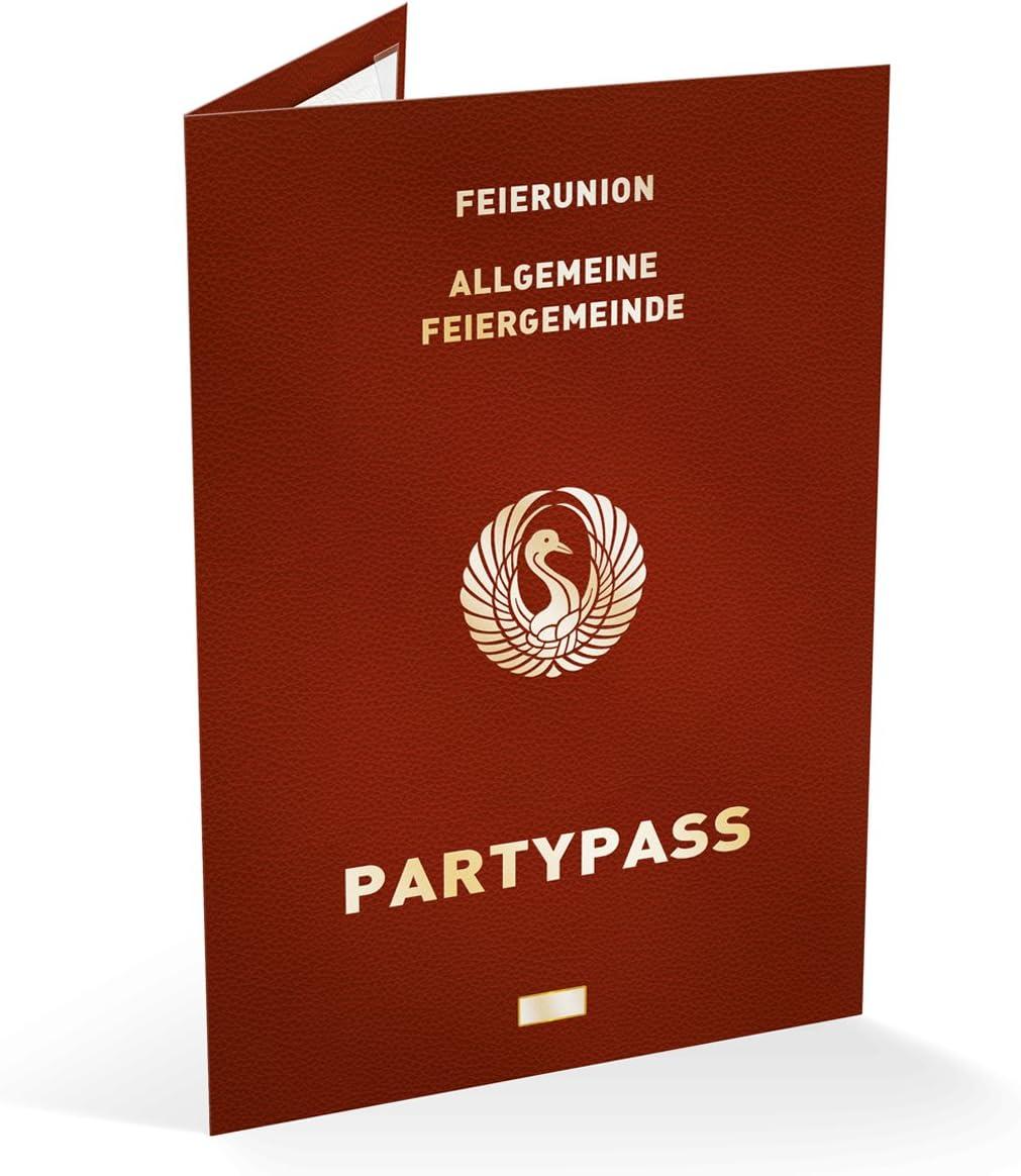 80 x Einladungskarten Geburtstag Reisepass Klappkarte mit Foto Pass Einladungen